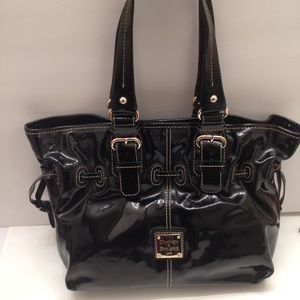 Patent leather black Dooney and bourke bag